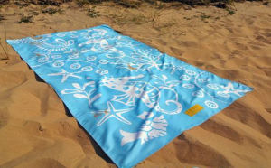 Double Printed Microfiber Suede Beach Towel