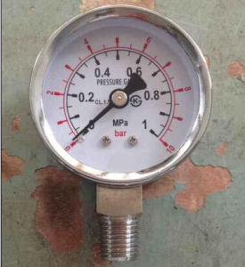 Y50 Electroplated Pressure Gauge pictures & photos
