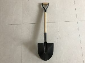 Wood Handle Egg Shovel with Steel Grip pictures & photos
