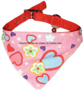 Cotton Twill Pink Printing with Small Bell Custom Dog Cat Pet Collar Scarf pictures & photos