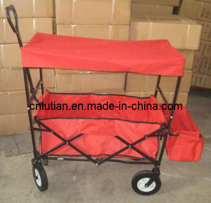 Folding Wagon with Red Canopy