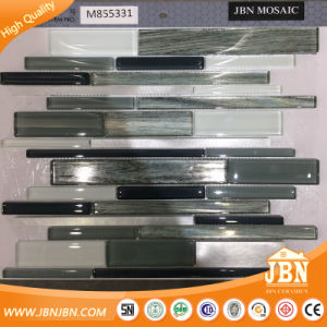 Black, Grey, White Color, Aluminum and Glass Mosaic Tile (M855331) pictures & photos