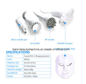 Mesotherapy No Needle Machines Skin Whitening Injection Facial SPA V Shaping System with LED Mask pictures & photos
