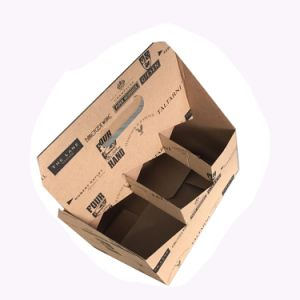 6 Pack Brown Corrugated Wine Carrier (FP6079) pictures & photos