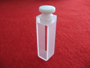 Standard Four Sides Clear Quartz Cell Quartz Cuvette with Teflon Stopper pictures & photos