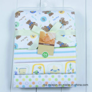 High Quality 100% Knitted Cotton Baby Sleeping Nursing Blanket Set pictures & photos
