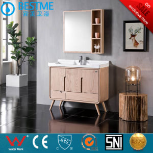 Sanitary Ware Bathroom Modern Vanity Solid Wood Standing Cabinet by-F8075 pictures & photos