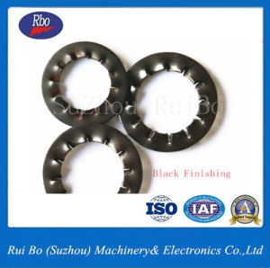 Zinc Plated Black Finishing DIN6798j Internal Serrated Lock Washer Spring Washer Steel Washer pictures & photos