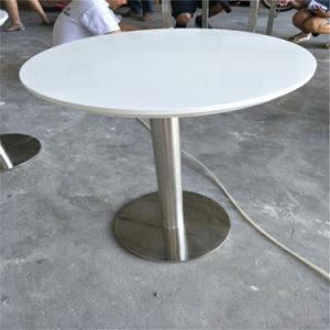 Hotel and Home Luxury Modern Artificial Stone Round Coffee Dining Table pictures & photos