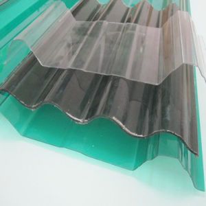 1mm Clear Lexan Corrugated Solid Polycarbonate Sheet Plastic Roofing Sheet pictures & photos