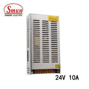 Smun S-250-24 250W 24V 10A Single Output LED Power Supply pictures & photos