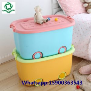 Children′s Bedroom Plastic Toy Box Storage Box with Lid pictures & photos