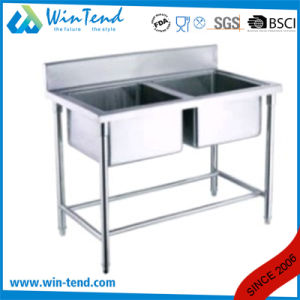 Hot Sale Stainless Steel Economic Type Kitchen Double Sink pictures & photos