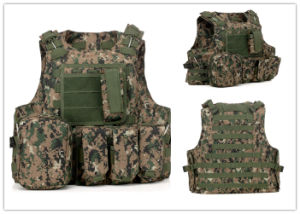 Tan Airsoft Tactical Soft Gear Vest Military Combat Army Vest pictures & photos