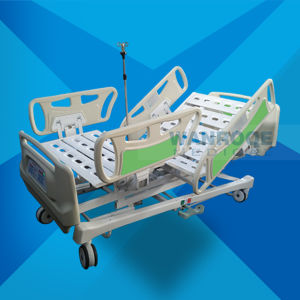 Hospital Medical Treatment Furniture Linak Electrical Adjustable ICU Bed with CPR and Battery pictures & photos