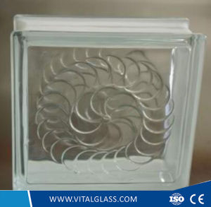 Clear Gemel Pattern Glass Block for Decoration pictures & photos
