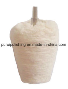 Mounted Cotton Buffing Polishing Wheel for Metal pictures & photos