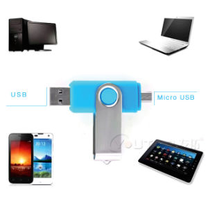 Swivel OTG Mobile Smartphone Dual USB Pendrive for Android (YT-1201-02) pictures & photos