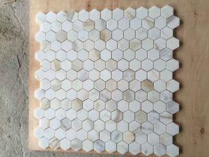 Hexigon Calacata Gold Marble Mosaic and Bathroom Mosaic pictures & photos
