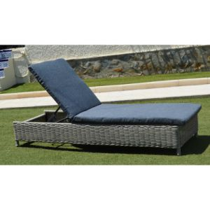 Garden Rattan Sunlounger Outdoor Wicker Set Patio Furniture