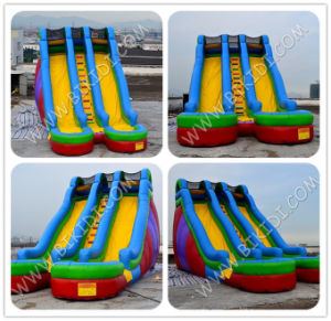 Double Land Inflatbale Slide, Inflatable Giant Jumbo Slide for Sale B4114 pictures & photos