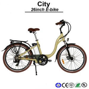 Front Hub Motor Electric Bike Urban E-Bicycle Lady Electric Bicycle E-Bike (TDF01Z) pictures & photos