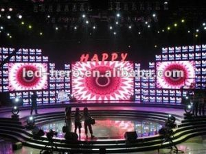 New Creative Indoor Exhibition LED Curtain Display P12.5/Strip Screen /Mesh LED Panel pictures & photos