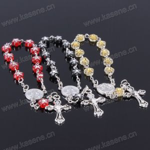 Fashion Handmade Five-Pointed Star Plastic Catholic Rosary Bracelet