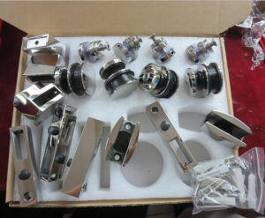 Stainless Steel Sliding Shower Glass Door Fittings (AS-002) pictures & photos
