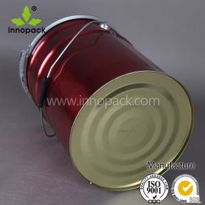 20L Red Metal Paint Pail Bucket with Lever Lock Ring pictures & photos