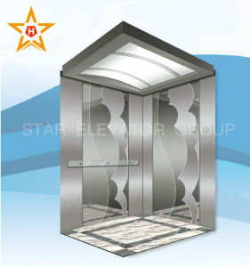 High-Tech Passenger Lift with Mirror Etching Stainless Xr-P14