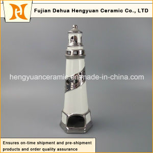 Creative Decoration Ceramic Lighthouse with Tealight pictures & photos