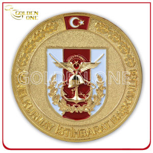 Custom Gold Plated & Sandblasted Finish Military Army Coin pictures & photos