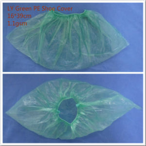 Ly Green PE Disposalbe Shoe Cover pictures & photos
