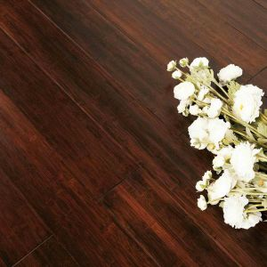 Solid Bamboo Flooring Cherry Color Handscraped pictures & photos