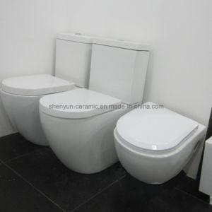 Saintary Ware Ceramic Two- Piece Toilet Washdown Flushing (ML- 831) pictures & photos
