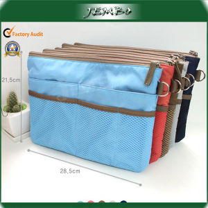 Customized Reusable Polyester Travel Cosmetic Bag pictures & photos