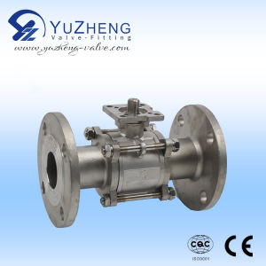 3PC Flamged Ball Valve with Pad pictures & photos