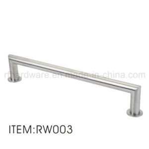 Stainless Steel Wooden Door Handle Shower Room Handle pictures & photos