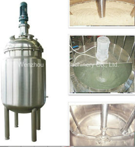 Pl Stainless Steel Jacket Emulsification Mixing Tank Oil Blending Machine Mixer Sugar Solution Paint Color Mixing Machine pictures & photos