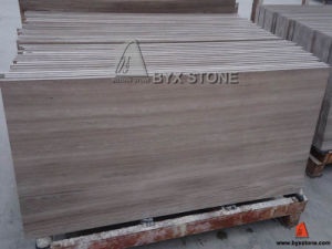Silver Grey Serpeggiante White Sandalwood Grain Marble Tile pictures & photos