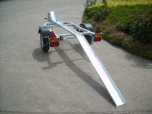Motorcycle Trailer Cmt-28 with Loading Ramp Getting Ramp