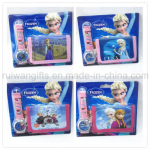 Frozen Elsa and Anna Kids Watch and Wallet pictures & photos
