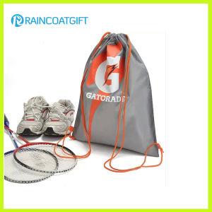 Logo Printed Nylon Drawstring Backpack Shoe Bag pictures & photos