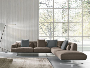 Comfort L Shape Fabric Sectional Sofa Set for Home (FS-005)