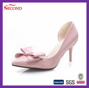 Bowknot Patent Leather High Heels for Women pictures & photos