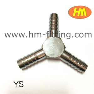 Brass Pipe Fitting Ys Nickel Plated Hose Barb Tee