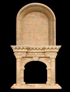 Home Decoration Natural Stone Marble Fireplace pictures & photos
