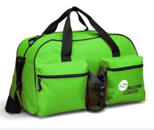 Promotion Polyester Sport Duffel Gym Bag with Bottle Holder pictures & photos