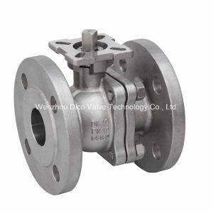 DIN Mounting Pad 2PC Floating Ball Valve with Ce Certificate pictures & photos